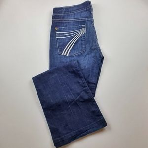 7 For All Mankind Dojo Flip Flop Flare Jeans 28